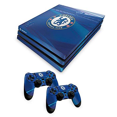 Offizielles Chelsea FC PS4-Gehäuse für Konsole und 2 Controller, Kombi-Pack
