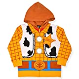 Disney Toy Story Boy's Woody Hooded Jacket, 100% Cotton, Yellow, Size 2T