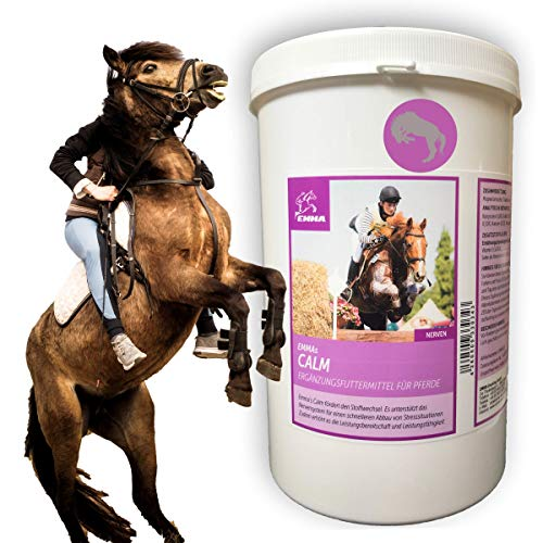 EMMA ♥ Magnesio Vitamina E para el Caballo Calma para los Caballos I Nervios Fuertes I Calmante para Caballos nerviosos I Pellets I Comida complementaria Anti-estrés 1 Kilo