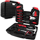 40-Piece Household Tools Kit - Small Basic Home Tool Set with Plastic Toolbox - Great for College Students, Household Use & More
