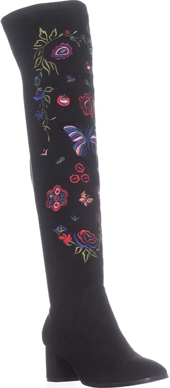 Impo Womens Judy Embroidery Faux Suede Over-The-Knee Boots