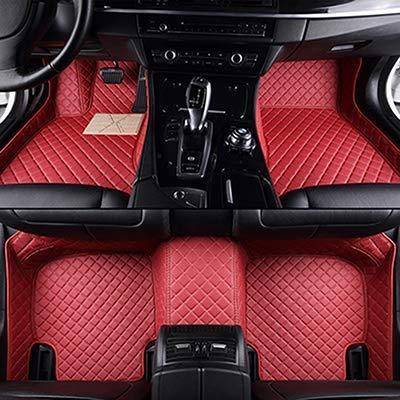 QIONGS Personalizadas Alfombras de Coche Piso,para Peugeot 307 SW 107 206 207 308 301 407 408 508 2008 4008 5008 Accesorios esteras Autos del Coche, de Color Rojo