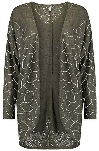 Hailys Lien Frauen Cardigan Khaki S 100% Polyester Basics, Streetwear