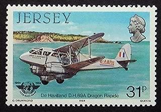De Havilland D.H. 89A Dragon Rapide Aircraft -Handmade Framed Postage Stamp Art 16293AM