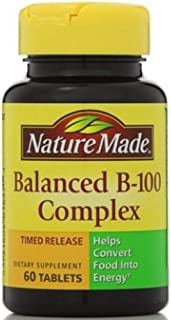 Nature Made Balanced Vitamin B-100 Complex Tablets 60 ea ( Pack of 2)