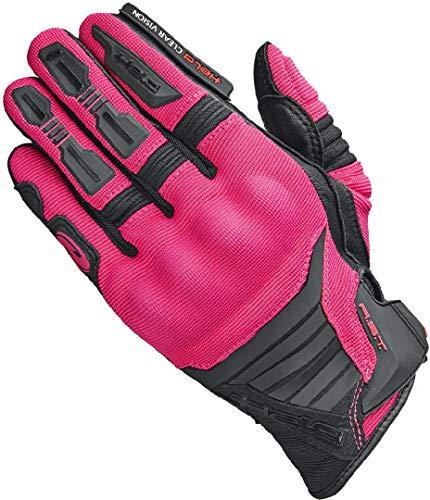 Held Hamada - Guantes de motocross para mujer, 1, Negro y rosa., D7 | S