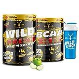 Wild Buck Wild Pre-X3 Hardcore Pre-Workout Supplement & BCAA Supplement 2:1:1 Instantized BCAA