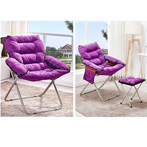 RENLEINB loungerbank, bureaustoel, stijlvolle loungestoel voor lunchpauze, enkele loungestoel, stoffen rugleuning, thuisvouwbare computerstoel