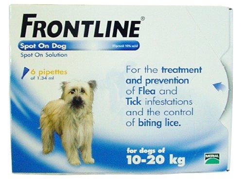 Frontline Spot on Chien 6 x 1.34ml Pipettes - Moyen (10-20kg)