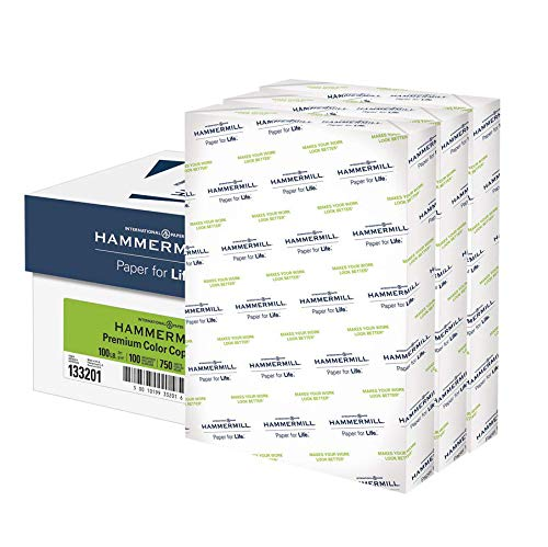 Hammermill Cardstock, 100 lb, 271 GSM, Premium Color Copy, 18 x 12-3 Pack (750 Sheets) - 100 Bright, Made In The USA Card Stock