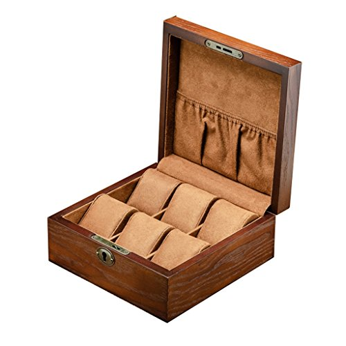 Organizador de cajas de reloj Reloj Caja de almacenamiento de madera para...