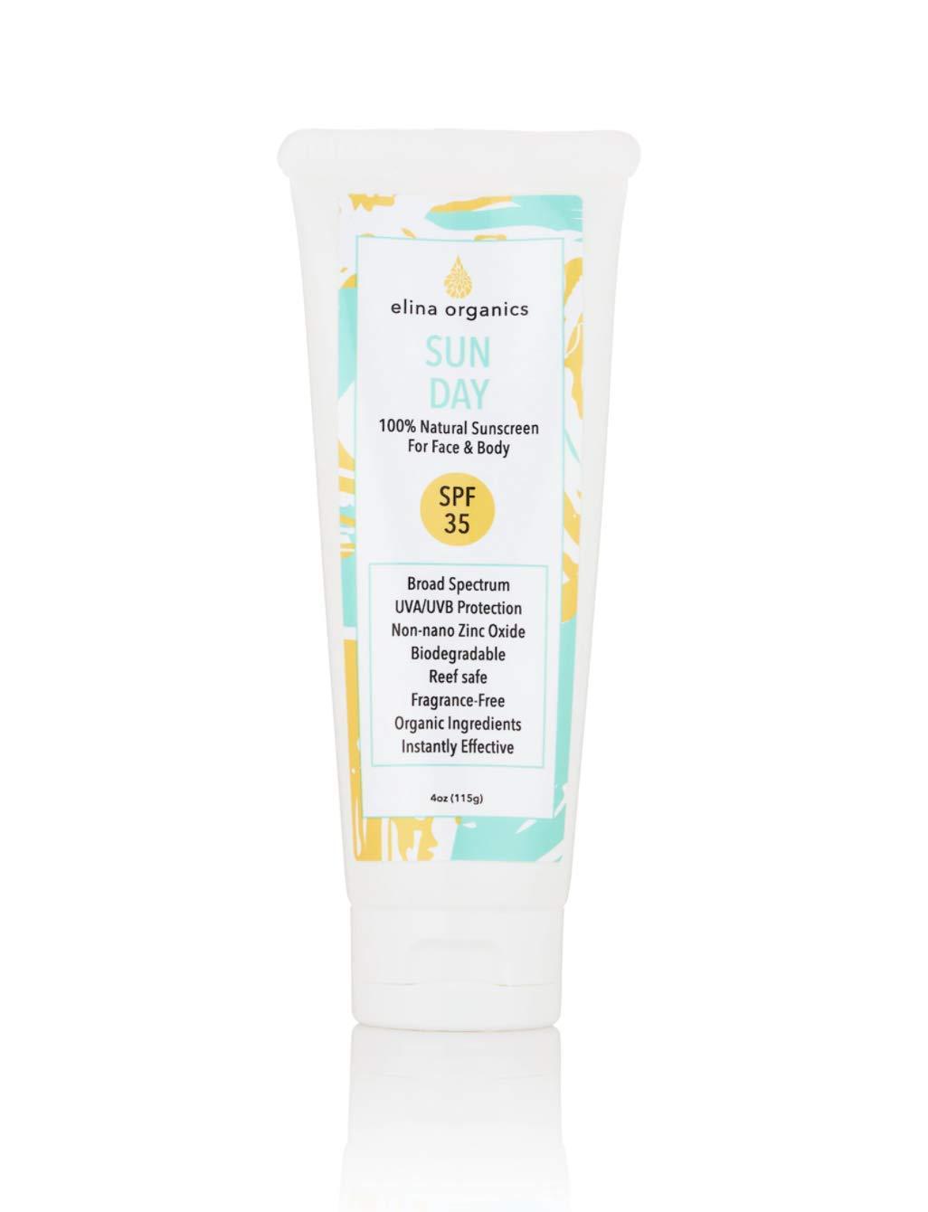 Sun Day Sunscreen Atlanta Mall 4oz UVA UVB 25% Non-nano Protection Ox Zinc Max 48% OFF