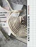 Knitting Graph Paper Notebook: To Design Beautiful Patterns In This Knitter's Journal | 4:5 ratio | 120 Pages | 8.5' x 11' | White Knit Round Cover Design