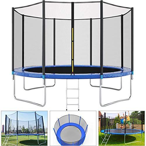 LETIN Trampoline avec filet de sécurité pour enfants, tapis de saut et couverture de printemps pour trampoline d'extérieur 30,5 m