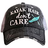 KATYDID Kayak Hair Don't Care Baseball Cap - Trucker Hat for Women - Stylish Cute Sun Hat Gray Mint