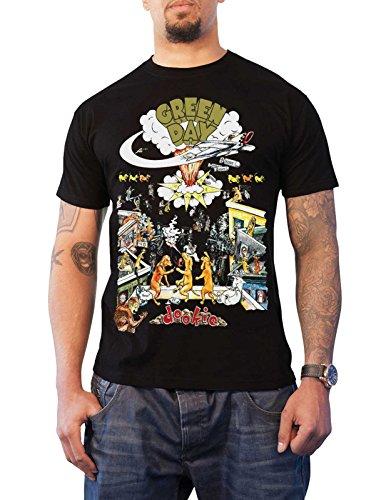 Green Day T Shirt 1994 Tour Dookie Nue offiziell Vintage Herren Schwarz