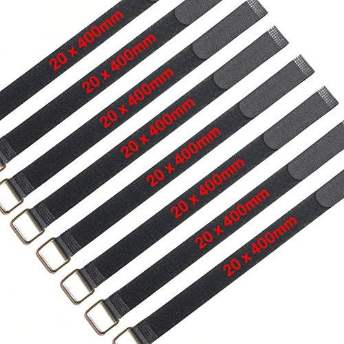 1 a 100 Velcro Fascette per cavi 20x400mm Fascette per cavi in velcro fascette per cavi Gancio di metallo