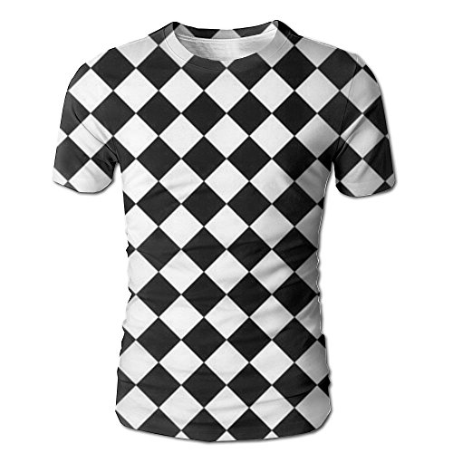 Pphy Chess Checkerboard Competition Round Collar Short Sleeve Mens Shirts Cotton Textiles 90s Novelty Shirts for Men Tops