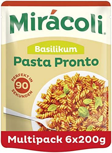 MIRÁCOLI Pasta Pronto Basilikum, 6 Packungen (6 x 200g)