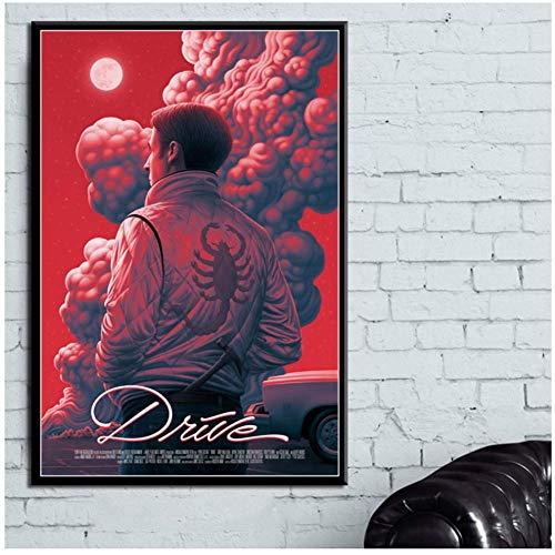 ASLKUYT Drive Classic Movie Film Leinwand Druck Poster Und Drucke Malerei Kunst Wandbilder Für Wohnzimmer Wohnkultur-50x70 cm Kein Rahmen