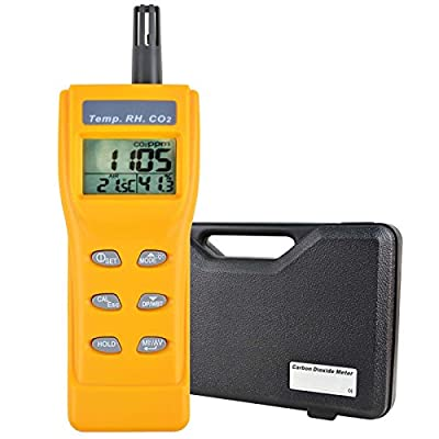 Indoor Air Quality 9999ppm Digital Carbon Dioxide Temperature Humidity NDIR Sensor IAQ WB DP Tester