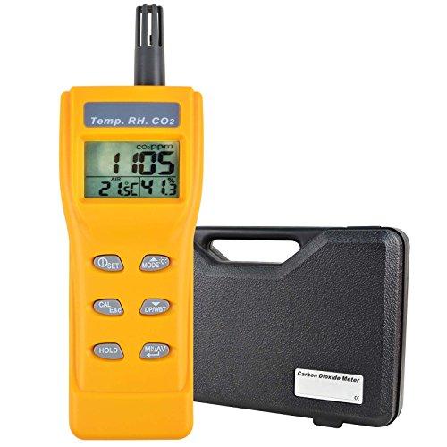 Indoor Air Quality 9999ppm Digital Carbon Dioxide Temperature Humidity NDIR Sensor IAQ CO2 Monitor WB DP Tester
