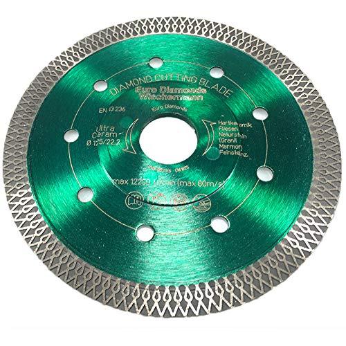 Profi Diamant-Trennscheibe Ceramic Super Ultra von EDW, 125 mm x 22,2mm, Fliesenscheibe/Fliesentrennscheibe, zum schneiden von Fliesen, Feinsteinzeug, Keramik, Naturstein, Granit, Marmor