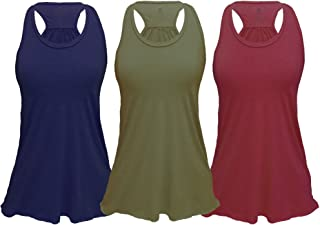 c2702a75896f Epic MMA Gear Flowy Racerback Tank Top, Regular and Plus Sizes Pack of 3