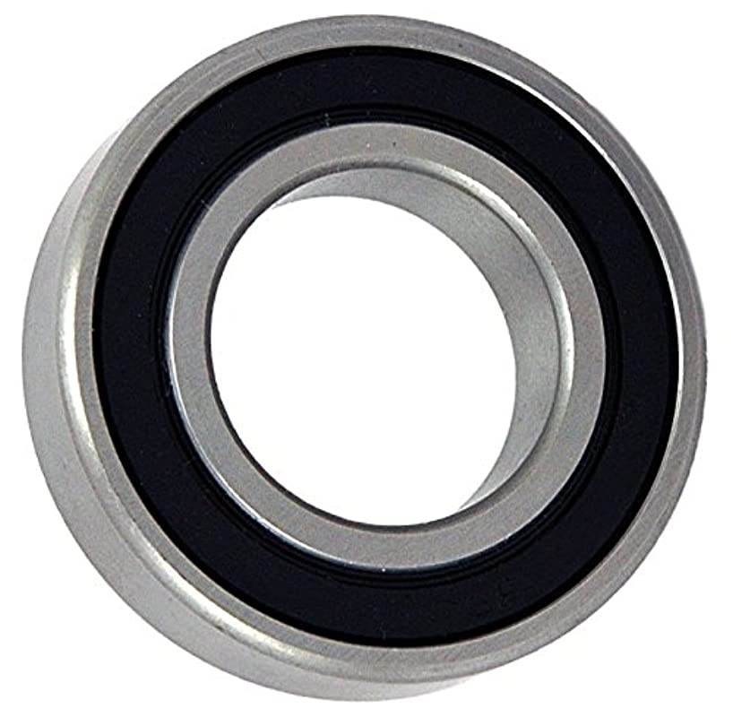 Big Bearing C6205-2RS Curved OD Radial Ball Bearing, 2 Rubber Seals, 25 mm Bore, 52 mm Outside Diameter, 15 mm Width, Metal/Rubber