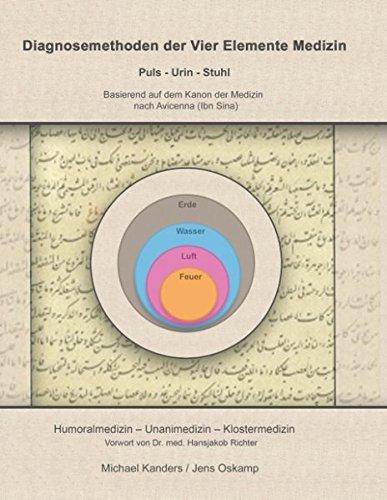 Diagnosemethoden der Vier Elemente Medizin: Puls - Urin - Stuhl Basierend auf dem Kanon der Medizin nach Avicenna (Ibn Sina)