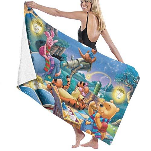 Winnie The Pooh - Toalla de baño de microfibra ultra absorbente para piscina, baño, hotel y spa, calidad para adultos y hombres (80 cm x 130 cm)