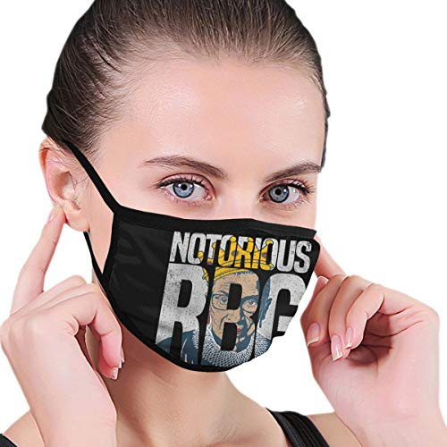 Qwertyi Ruth Bader Ginsberg Notorious RBG Face Cover Fashion Anti- Face Mouth Cover Windproof Adjustable Washable Cover for Outdoor Sports