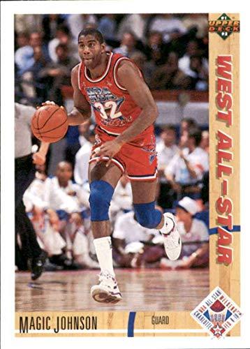 Basketball NBA 1991-92 Upper Deck #57 Magic Johnson #57 AS NM Lakers
