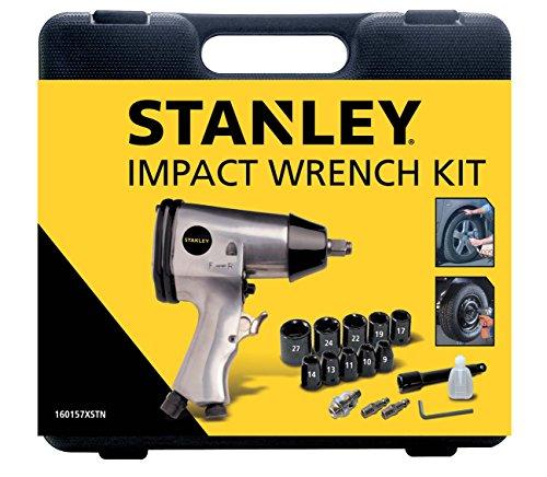 STANLEY 160157XSTN Kit Avvitatore ad impulsi in valigetta, 1/2' con 10 bussole, Velocità 4600/min