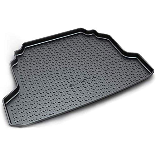 XYWD Car Boot Mats, Vehicle Tailored Rubber Cover Carpet Cargo Liner Tray Floor Pad, Vehicle Rear Trunk Protector Custom Luggage Accessories, Fit For H-yundai Elantra Sedan 2004 2005 2006 2007-2017