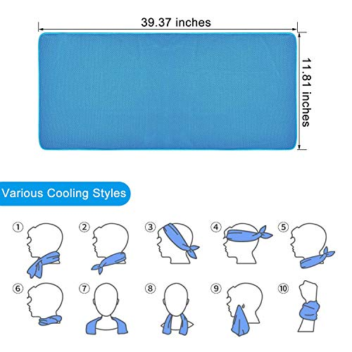 EDEUOEY Yoga Sports Cooling Towels: Women Men Outdoors Microfiber Keep Ice Towel Set Hot Heat Weather Snap Stay Cool Water Instant Cold Off Golf Exercise Gym Face Neck Towel 4 Pack