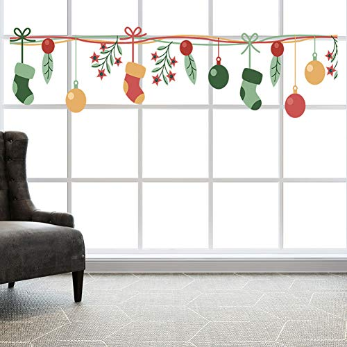 TYOLOMZ Gartendekoration Kreative Frohe Weihnachten Kunst Wandaufkleber Fenster Wandaufkleber Wohnkultur Wohnaccessoires Kerst