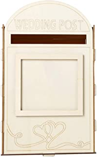 Cuiedailqhb Wooden Letters Rustic Mailbox Gift Card Post Box Wedding Shower Birthday Decor DIY Painting Supplies, Wedding Decor 13.03 X 7.99 X 7.99 Inches JM01617