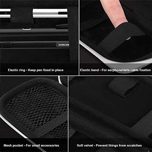 AGPTEK Apple Pencil Hülle (1. und 2. Generation), Premium Kunstleder Tasche, Schutzhülle für Samsung, Huawei, Surface Pro Eingabestift mit integriertem Ablagefach und passend für USB Kabel, Grau