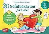 30 Gefühlekarten für Kinder: Sozial-emotionale Entwicklung fördern. Emotionen beschreiben und ausdrücken. Lösungen finden, Empathie lernen. Mit ... und innere Balance. 30 Ideen auf Bildkarten)