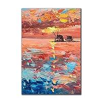 キャンバス絵画ポスタープリント壁抽象美しいスカンジナビアの風景写真リビングルームの壁の装飾Cuadros-80x120cmフレームなし