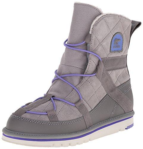 SOREL Kids Girl's Newbie (Little Kid/Big Kid) Light Grey/Purple Lotus Boot 5 Big Kid M