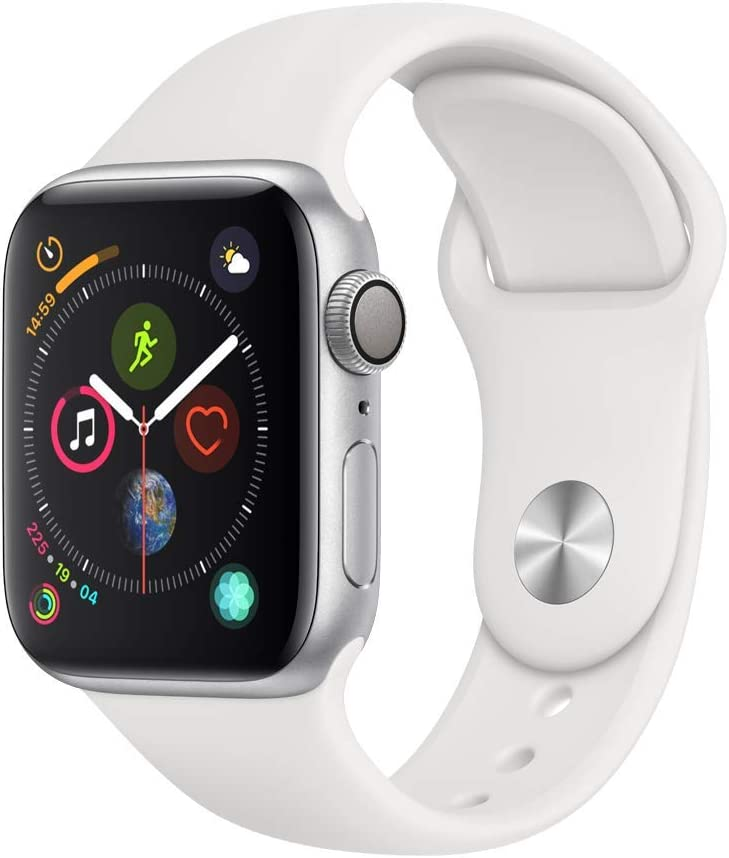 AppleWatch Series4 (GPS,40mm) - Silver Aluminium Case with White Sport Band