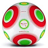 Millenti Soccer Balls Size 5 - Knuckle-It-Pro White Soccer Ball with High-Visibility, Easy-to-Track Designs, SB0105WT