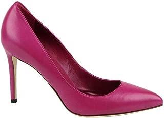 Women's Magenta Leather Pointed Toe Heel Pump 338723