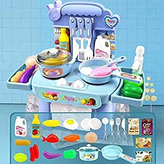 Play Food, Plastic Kids Play Food, Music Light Children's Cooking Toy Set Pretend Play Food for Pretend Role Playing Chris...