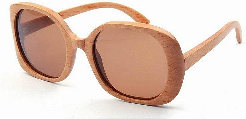 Women's Sunglasses Oversized Irregular Wood Handmade Polarized TAC Lens Cat Eyes UV Predection Driving Vacation Fishing Beach Outdoor Sunglasses,