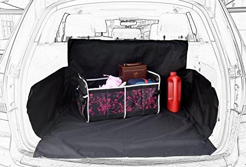 HelloTree Wasserdicht Kofferraummatte - Oxford Kofferraumschutz für Hunde - Autodecke Kofferraum Mit