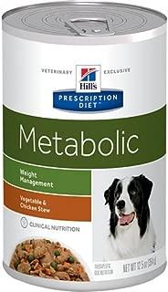 Hill's Prescription Diet Metabolic Weight Management Vegetable & Chicken Stew Canned Dog Food 12/12.5 oz