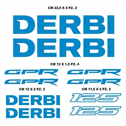 Sticker, compatibel met DERBI GPR 125 motorfietsen, verschillende kleuren 053 BLU LEGGERO
